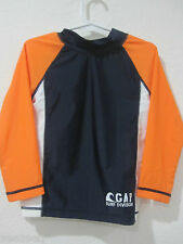 NWT Boys Baby Gap Orange Blue Rashguard Swimsuit Top sz 3 yrs