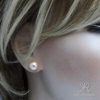 ⛶WEICH & WEIBLICH ● 10mm ●  SC Perlen apricot rosa + Ohrstecker ygf 14k Gold 585