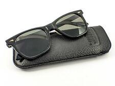 Rare American Optical Saratoga Sunglasses Black Cn 25T-51 Jfk + Case 1960s