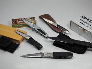5 Stk TASCHENMESSER JAGDMESSER Klappmesser Ontario Knife Magnum + Gürteltasche