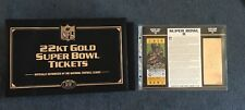Willabee & Ward NFL Replica Super Bowl 22kt Gold Tickets