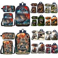 Jurassic World Backpack 3Pcs School Bag Set Knapsack Lunch Bag Pencilcase Lot