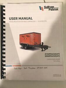 User Manual Portable Air Compressors DE750P3CU, DF750P3CU, DE750P3CUAF, DF750P3C