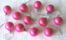 Miniature Ornaments Balls Rose Red Christmas Shatterproof, Satin, Feather Tree