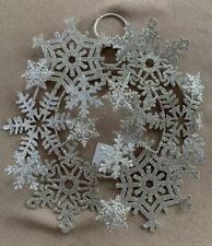 Crate And Barrel Silver Glitter Multi Snowflake Tree Topper