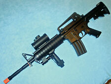 DE M4/AR15 Style Auto Electric Airsoft Gun with Loaded Accessories