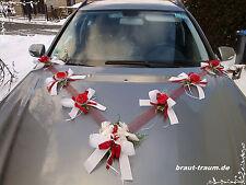 Autoschmuck, Autogirlande , Rosen rot, Hochzeit, neu