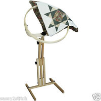 """Quilter's Wonder 18"""" Adjustable, Rotating Quilting Hoop w/Stand"""
