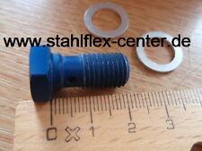 ALU Hohlschraube M10 * 1,25 blau eloxiert Stahlflex Bremsleitung Schraube Banjo