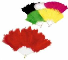 6 PC FEATHER HAND FANS dance costume party supplies womens novelty purse fan new
