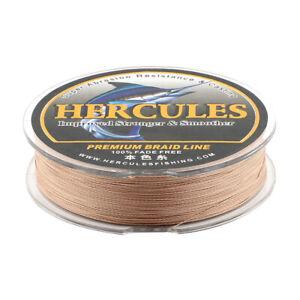 Hercules 1000 m 100% Fade Free PE 6-300 lb 4 8 Strands Braid Fishing Line 1093yd