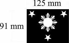 PHILIPPINES STARS AND SUN VINYL DECAL 116MM BY 90 MM apr.  white vinyl