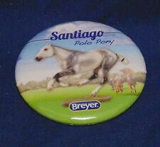 BREYER HORSE BUTTON PIN - SANTIAGO POLO PONY