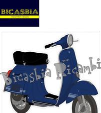 6681 - ADESIVO CON VESPA ET3 PRIMAVERA BLU PER VESPA 125 ET3 PRIMAVERA BICASBIA