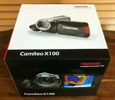 Toshiba Camileo X100 Full HD 1080p Camcorder 4GB W/ 16GB SD, Charger, USB Tested