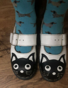 Tredair Made In England Leather Punk Cat Hot Topic Mary Jane Shoes sz 8 Vintage