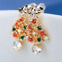 Gift Ear Stud Chic Colorful Cute Pierced Earrings Fashion Christmas Tree Women
