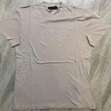 Authentic Mens Prada Classic Beige Round Neck Cotton Jersey T-Shirt Size M