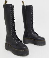 Doc Martens X DOLLS KILL 1B60 MAX Platform Combat Tall Black Leather Boots US 9