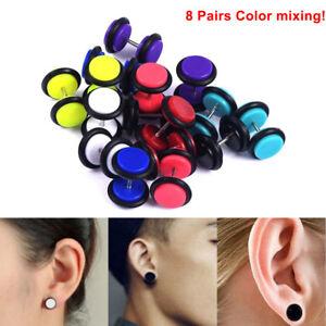 Fake gauges Faux gauges Byron Fake gauge earrings Fake ear stretcher Fake Piercing Organic jewellery Wood earrings,fake ear stretcher
