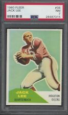 PSA 7 - 1960 Fleer # 38 Jack (Jacky) Lee RC Houston Oilers