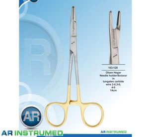 Olsen Hegar Needle Holder Scissors 14cm TC Dental Premium TGA Reg AR-INSTRUMED