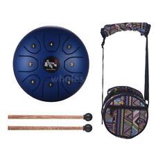 Mini 8-Tone Steel Tongue Drum C Key Percussion Instrument Hand Pan Drum R1F9