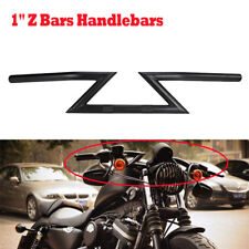 """Black Motorcycle Drag Z-Bars 1"""" Inch Handlebars for Harley Sportster Dyna Bobber"""