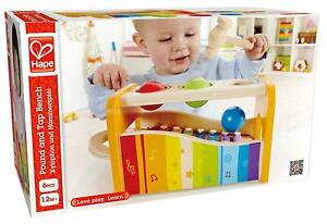 Hape Pound & Tap Musical Bench with Slide Out Xylophone - Award Winning Toy
