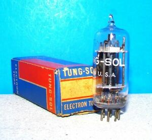 6AT6 Tung-Sol AA5 vacuum tube valve NOS radio guitar audio amplifier tested 6AT6