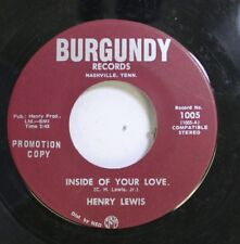 Country Promo 45 Henry Lewis - Inside Of Your Love / If She Would Forgive Me On