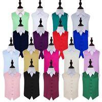 High Quality Plain Boys Wedding Formal Waistcoat Age 2 - 14 Years Available