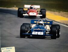 MARK DONOHUE MARIO ANDRETTI FERRARI 312B 1971 QUESTOR ONTARIO 8 X 10 PHOTO 3