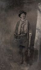 "Outlaw Billy The Kid Fort Sumner 1879 Wild West Gunfighter Reprint 7x4"" Photo"