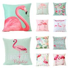 18 Inch Summer Flamingo Throw Pillow Case Cushion Cover Home Sofa Decor USA