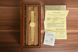 Vintage VACHERON & CONSTANTIN 18k Gold 7613 Mens 33mm Auto Watch w/ Box/Papers!