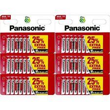 60 x AAA PANASONIC® Zinc Carbon Batteries - New LR03 1.5V Expiry 2022 Genuine