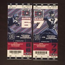 Detroit Tigers World Series Tickets 2006 Unused Full Games 6 & 7 NMMT Cardinals