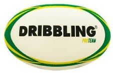 DRB Rugby Ball Pro Team - Official Size 5 for Practice and Match Play - White