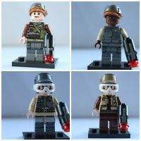 Star Wars Rebel Troopers 4 X Soldiers Custom lego City Jedi Mini Figures