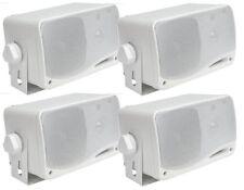 "(4) Pyle Marine Audio PLMR24 3.5"" 200W 3-Way Weatherproof Mini Box Speakers"
