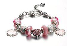 "Pink ""Angel Love"" Charm Bracelet"