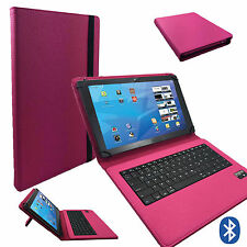 Bluetooth Tablet Tasche AMPE A10 Quad Core Allwinner Tastatur Keyboard Pink 10.1