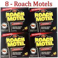 8 Traps Black Flag Roach Motels Cockroach Killer bait Glue Trap Motel Spiders