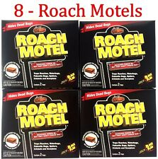 8 Traps Black Flag Roach Motels Cockroach Killer bait Glue Trap Motel
