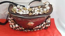 Haiying Snider Buttons, Crystals & Spikes Purse