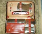 GRIFFON+Vintage+Mens+Leather+Travel+Grooming+Kit+Set+Case%C2%A0+Complete%21+Germany%21