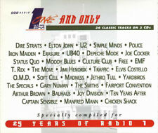 VA One and Only - 25 Years Of Radio 1 Compilation - Double Cassette NEW