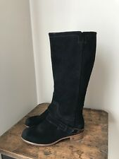 UGG WOMEN'S SIZE US 5.5~TALL BLACK SUEDE CHANNING EQUESTRIAN STYLE BOOTS~1011611