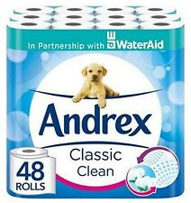 Andrex Classic Toilet Tissue - White, 48 Rolls ( 3 x Pack of 16 Rolls)